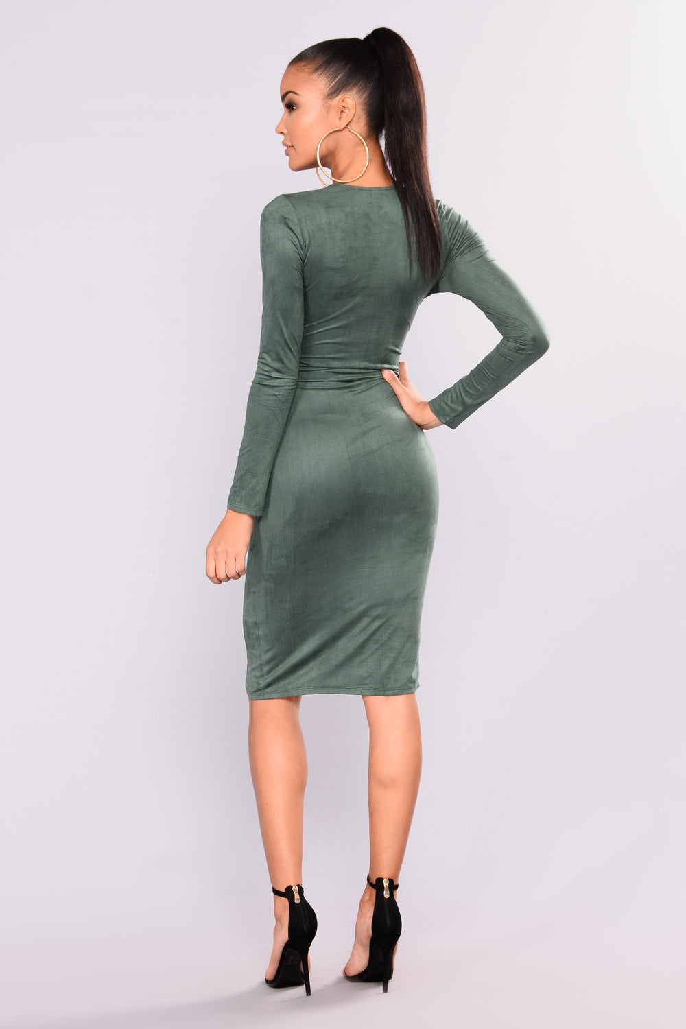 Kellin Suede Dress - Green