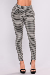Cassia Pants - Black/White