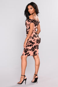 Fresh Bouquet Floral Dress - Mauve