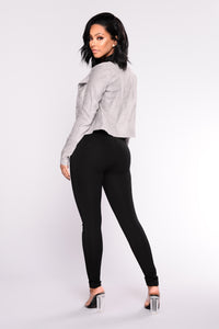 Brigitte Booty Lifting Ponte Legging - Black