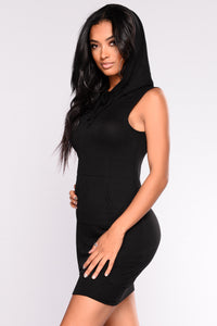 Flexing Hooded Tunic - Black