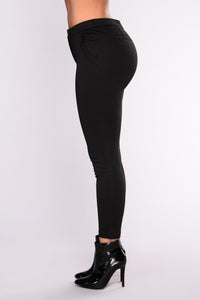Sammy Ponte Pants - Black