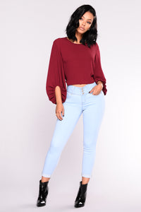 Simply Kind Bubble Top - Wine
