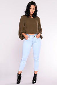 Simply Kind Bubble Top - Olive