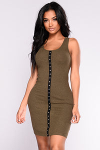 Stacy Midi Dress - Olive