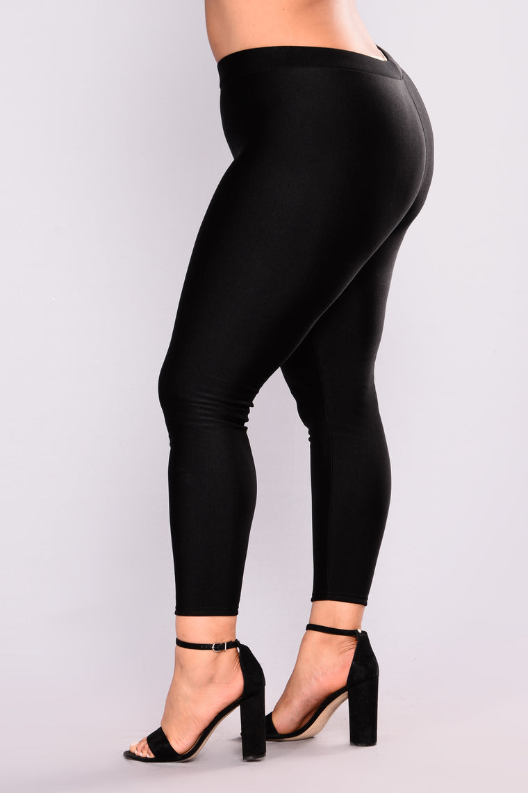 Fleece Please Leggings - Black