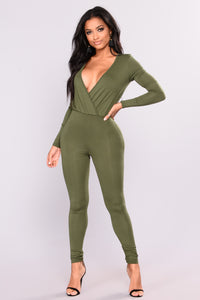 Cared For Jumpsuit - Olive