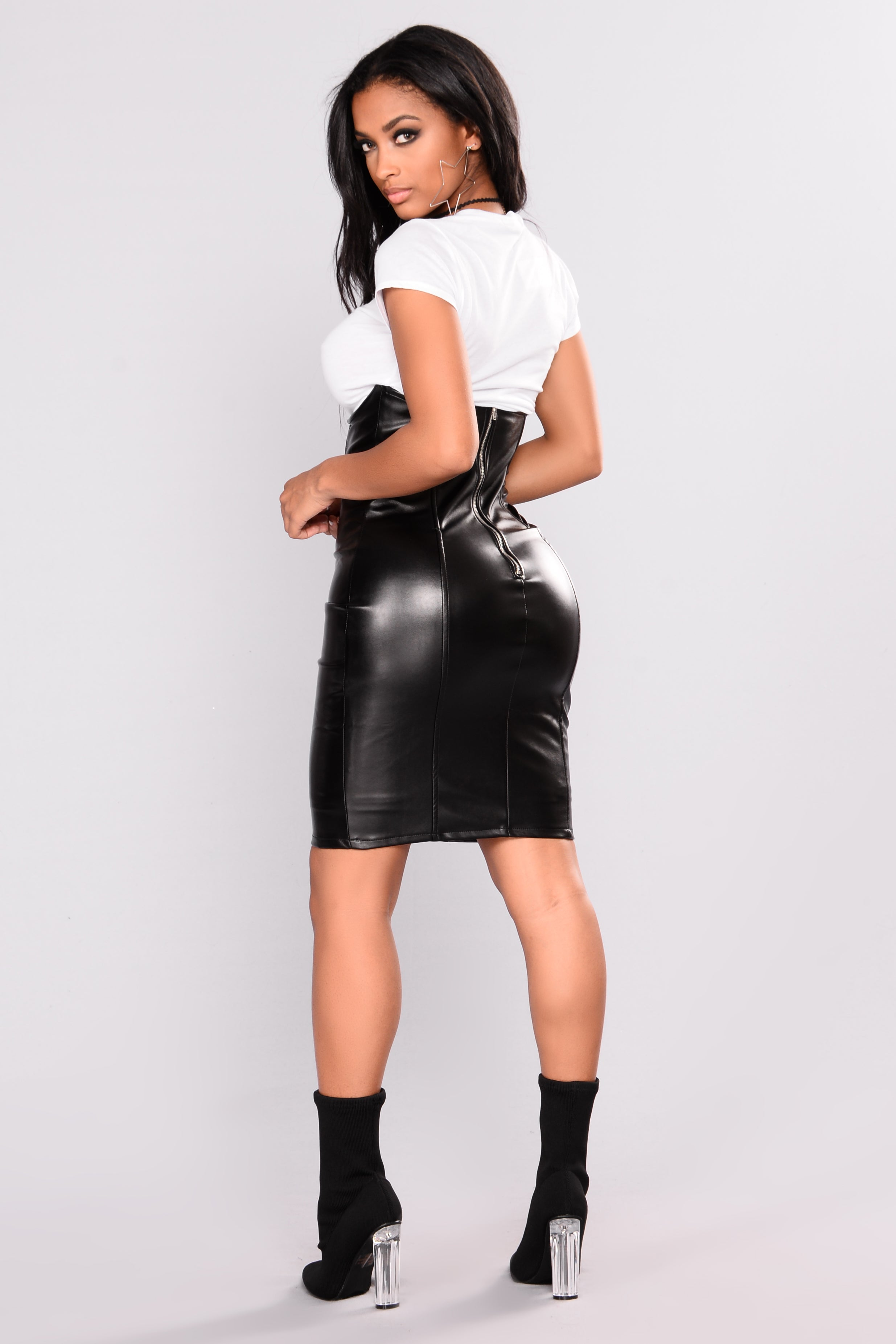 Leather skirt. What to wear Secrets and recommendations 91
