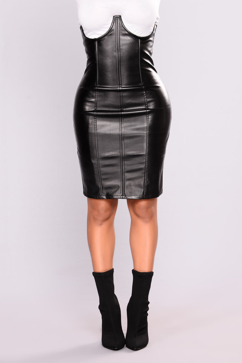Beautiful Lie Leather Skirt - Black
