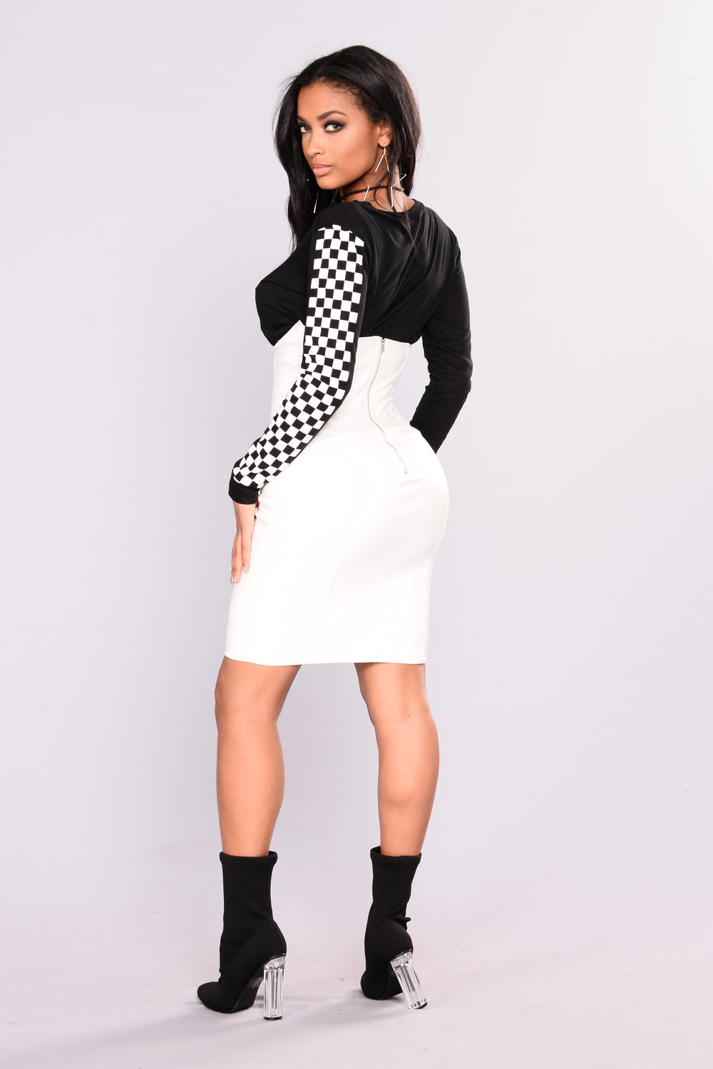 Beautiful Lie Leather Skirt -White