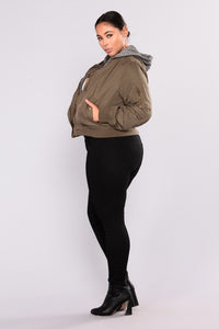 Know The Name Bomber Jacket - Olive