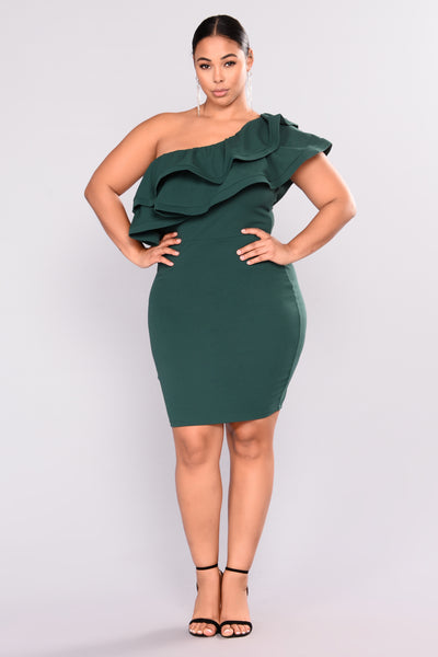 Dance With Me Party Dress - Hunter Green