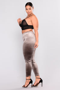 Look But Don't Touch Leggings - Grey