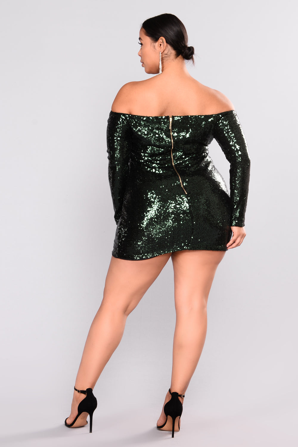 Are You Sequin Serious Dress - Hunter Green
