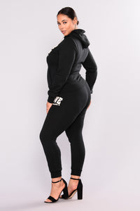 Love Me Lounge Jogger - Black