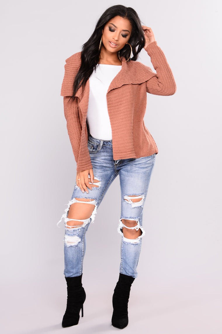 Totally Obsessing Cardigan - Mauve
