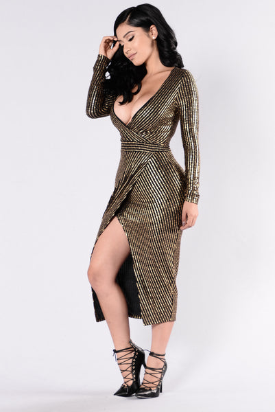 Nicki Dress - Black/Gold