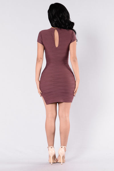 Dazed And Confused Dress - Marsala