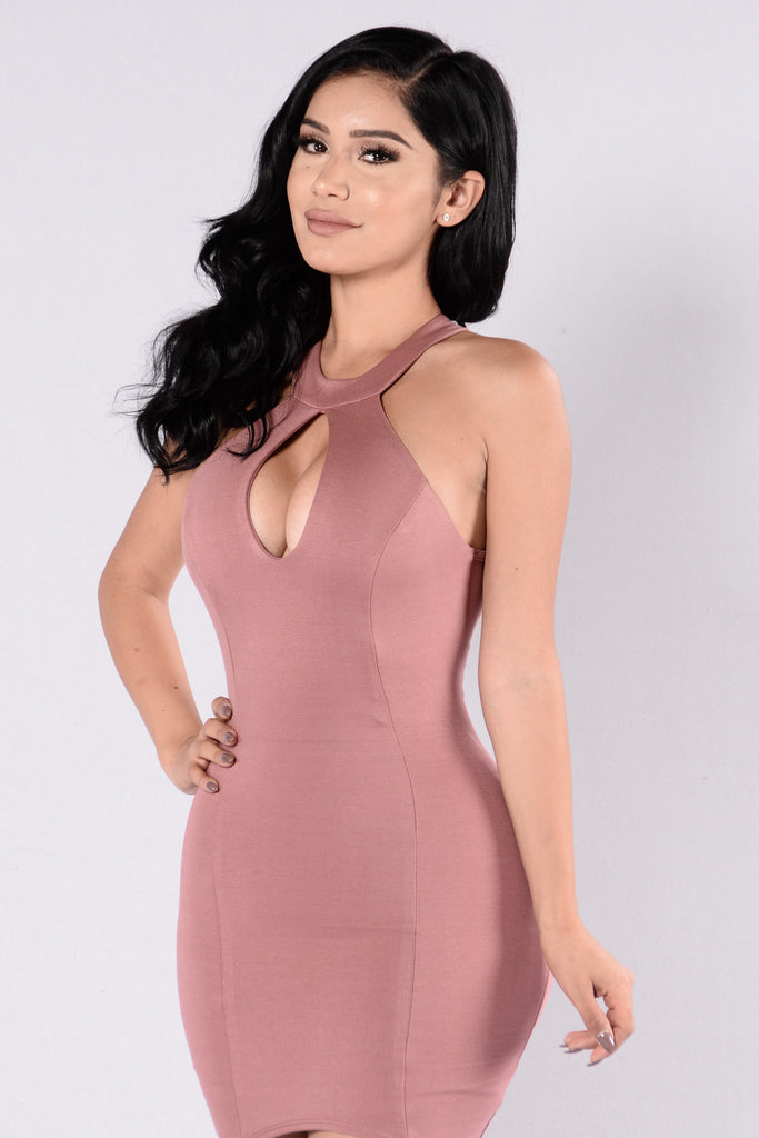 Heat of the Moment Dress - Mauve