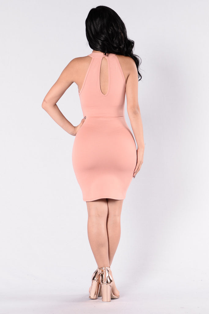 Heat of the Moment Dress - Dusty Pink