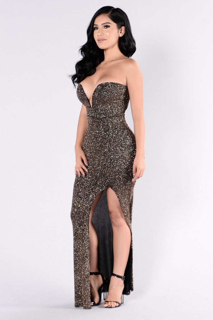 Italiana Dress - Bronze
