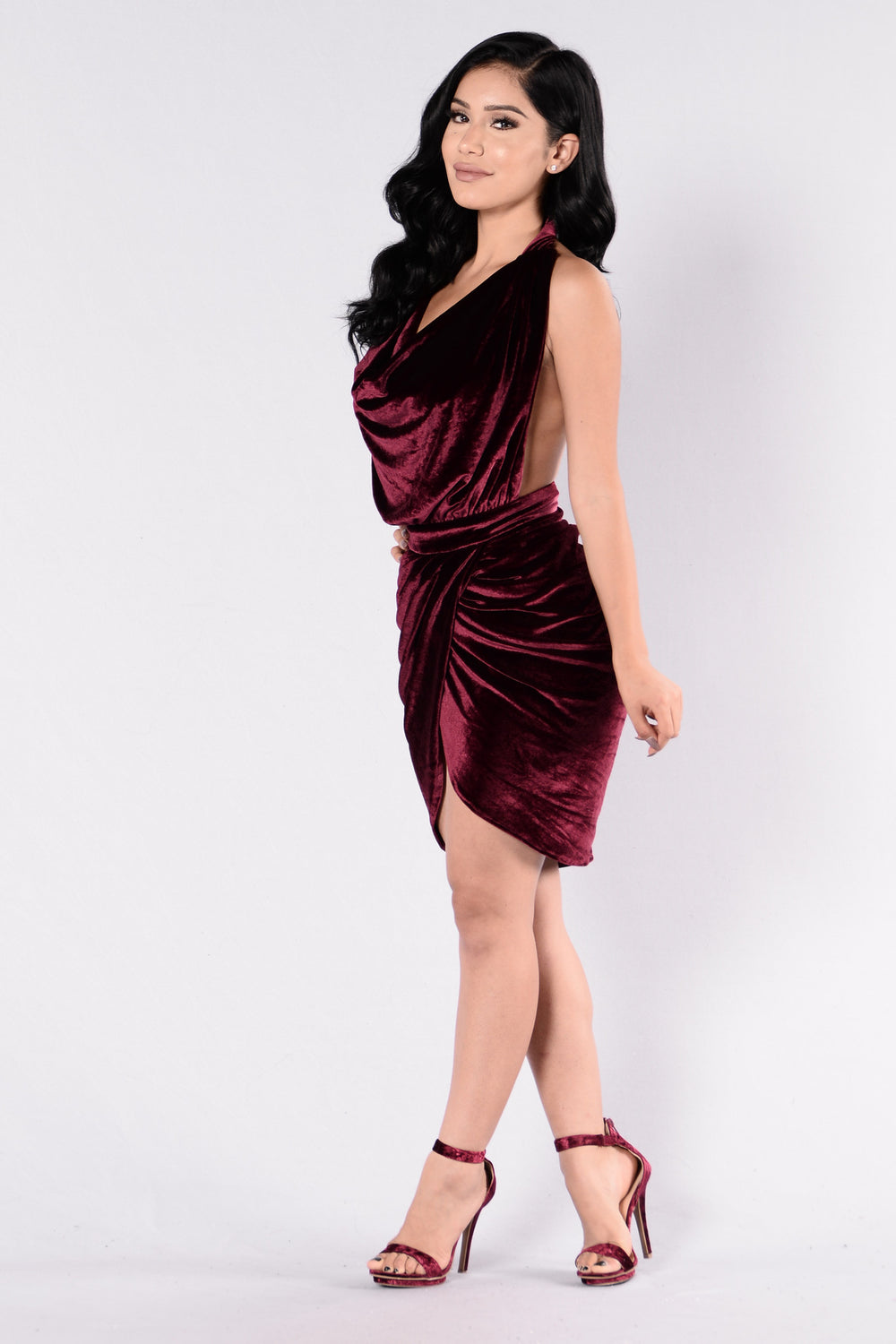 Feel My Kiss Dress - Wine