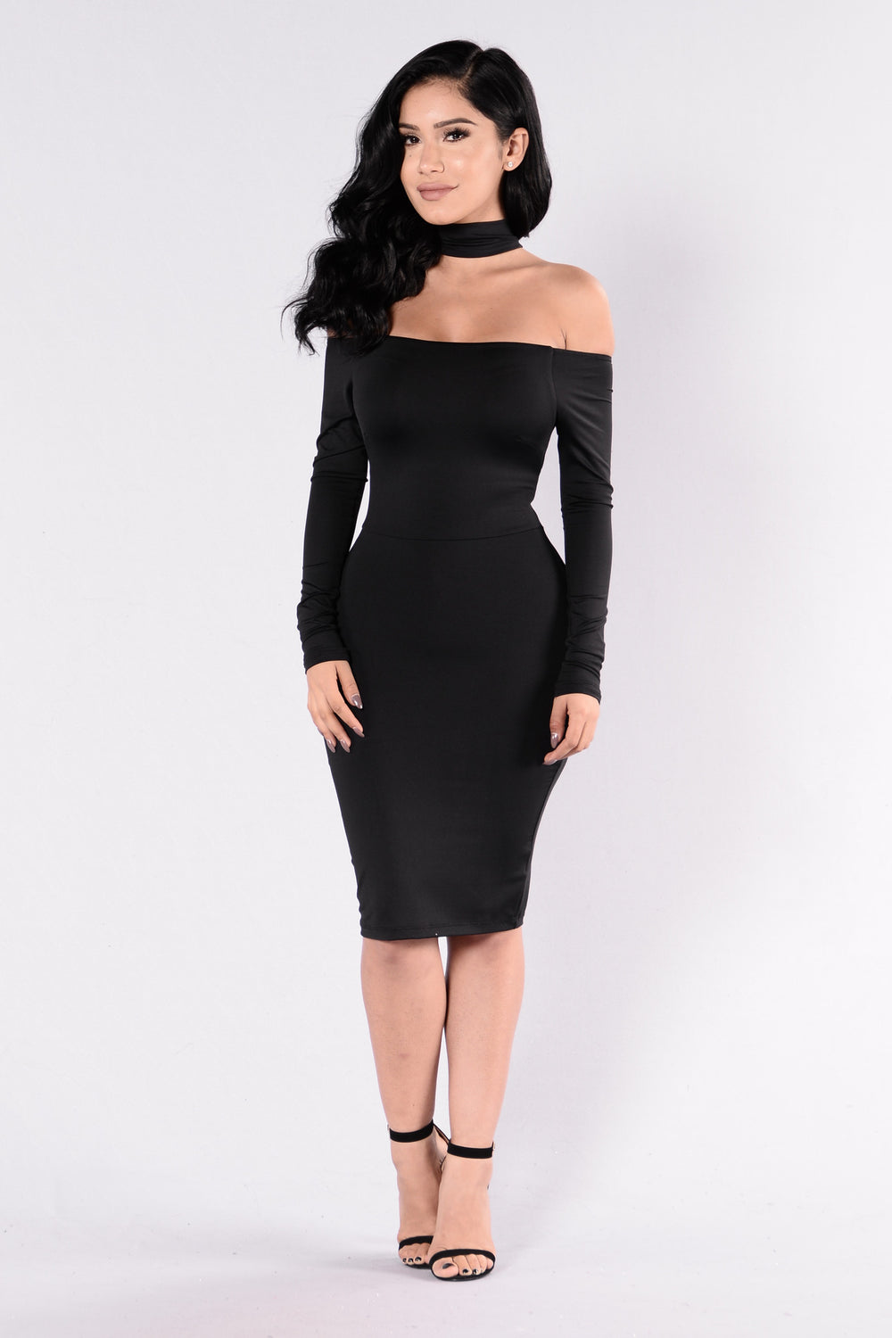 Get It Right Get It Tight Dress - Black