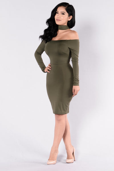 Get It Right Get It Tight Dress - Olive