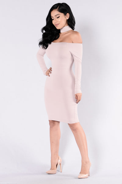 Get It Right Get It Tight Dress - Mauve