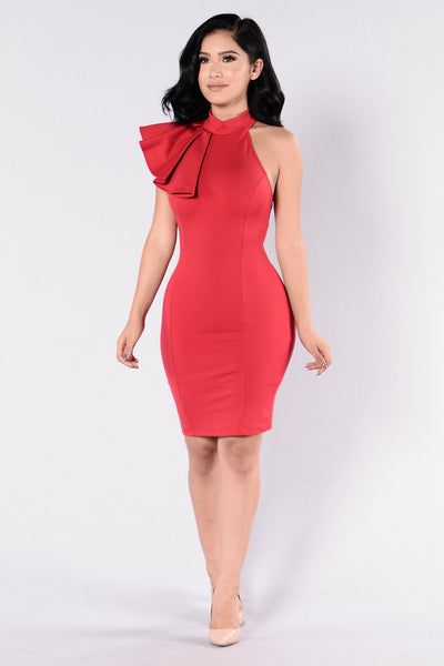 Ruffle Butter Dress - Red