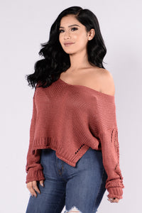 Zula Sweater - Marsala