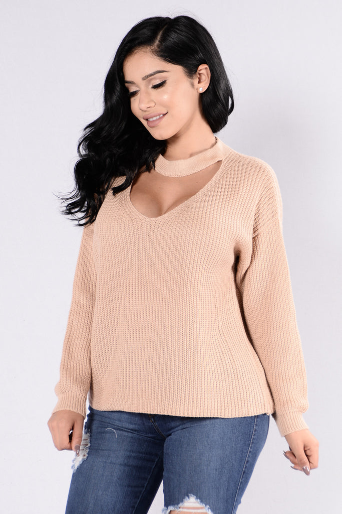 Do It Again Sweater - Nude
