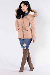 Autumn Leaves Jacket - Camel