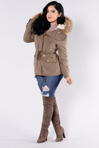 Autumn Leaves Jacket - Olive