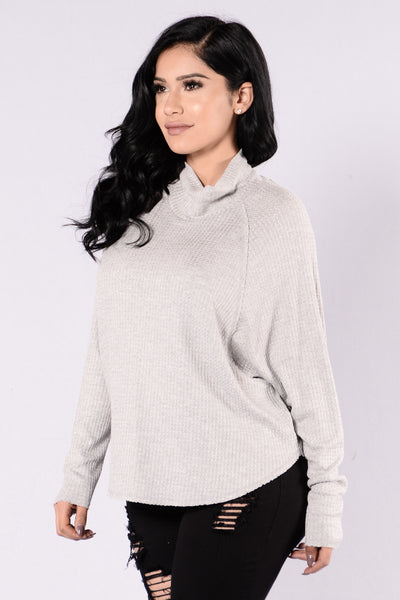 Jules Top - Heather Grey