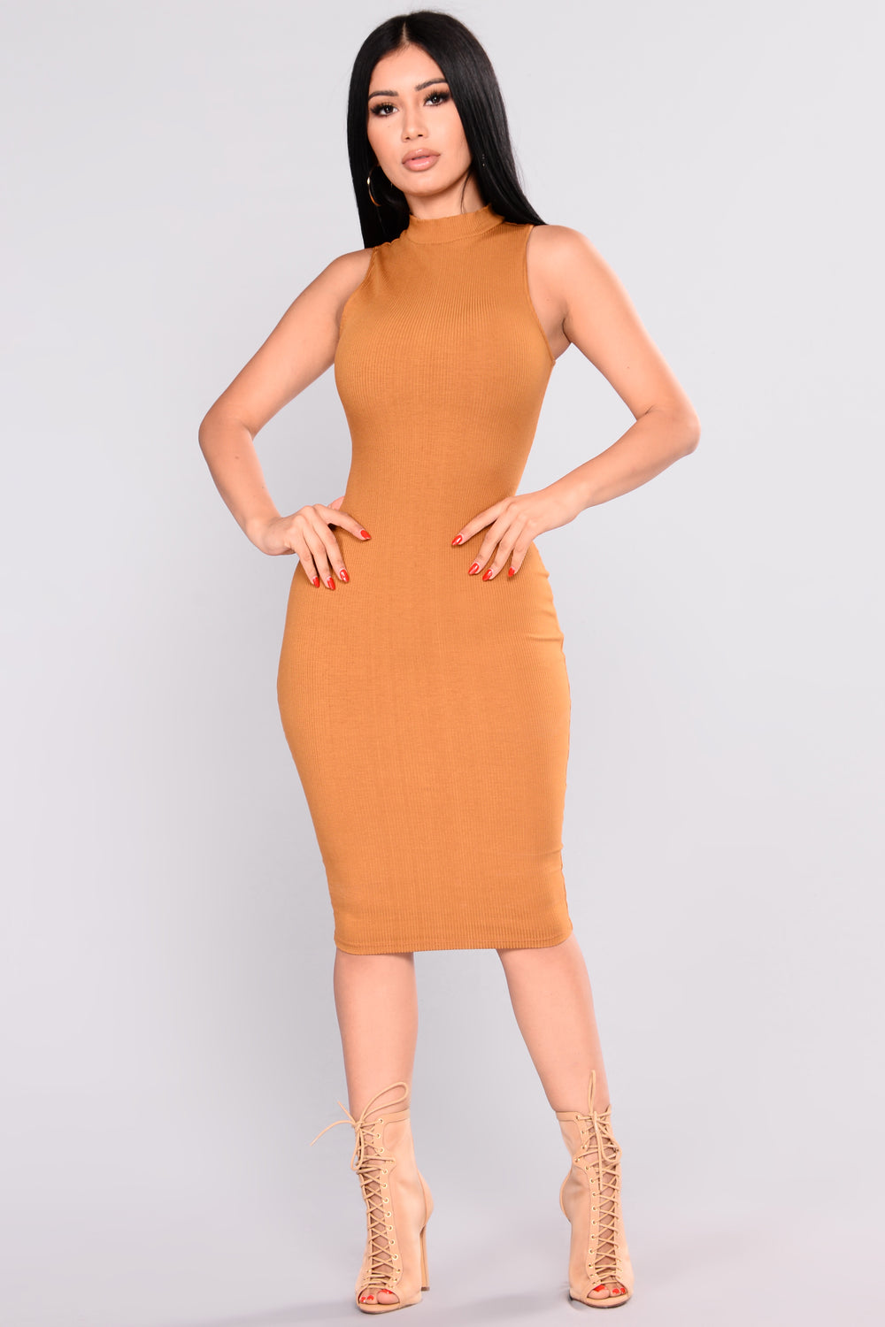 Need Somebody Ribbed Dress - Mustard