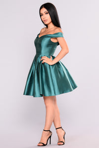 Wonderful Life Dress - Hunter Green