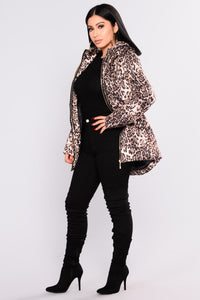 Keep Out Leopard Jacket - Beige