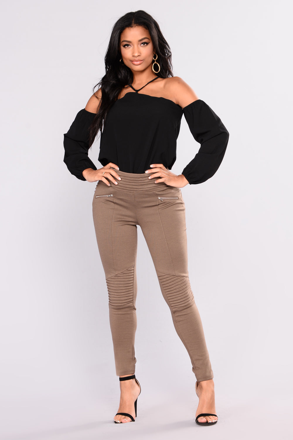 Now And Forever Cold Shoulder Top - Black