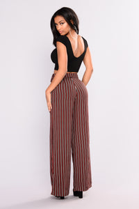 Street Walker Wide Leg Pants - Black Multi
