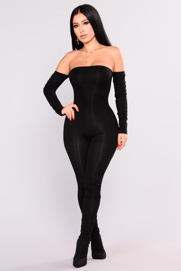 bba9dd6a740 Soothe Off Shoulder Jumpsuit - Black