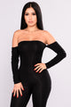 Soothe Off Shoulder Jumpsuit - Black