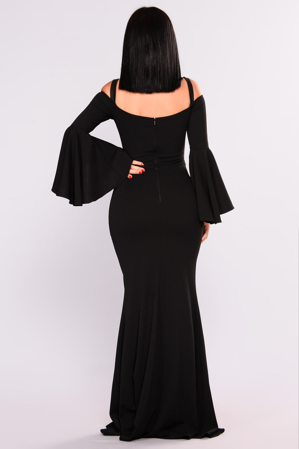 Fascination Off Shoulder Dress - Black