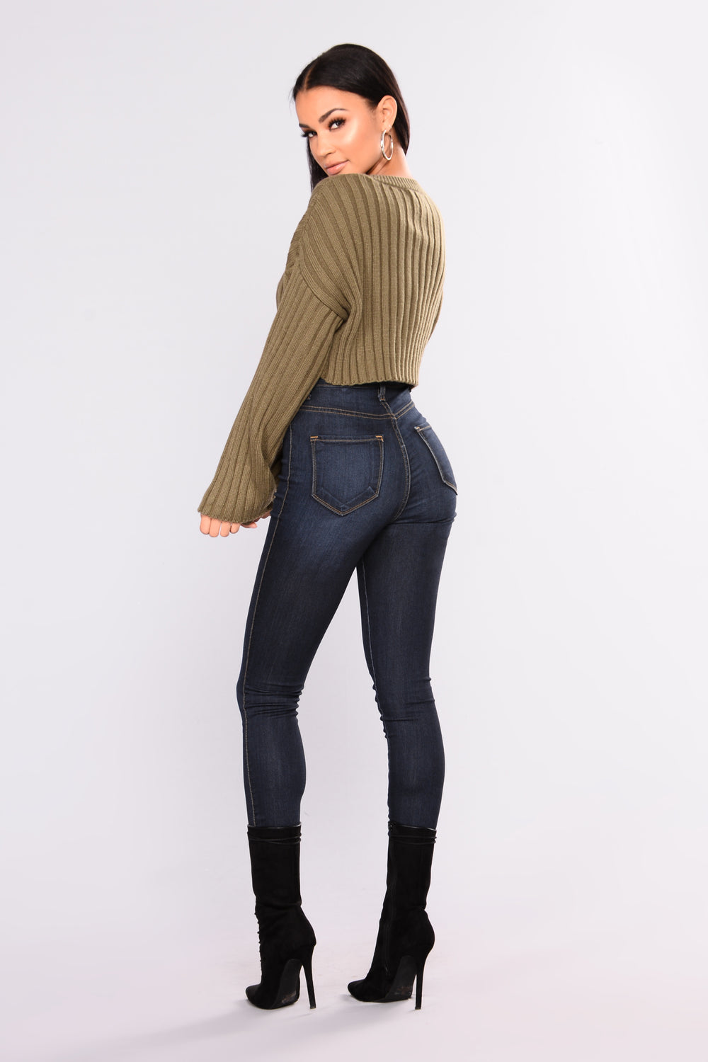 Bessie Ribbed Sweater - Olive