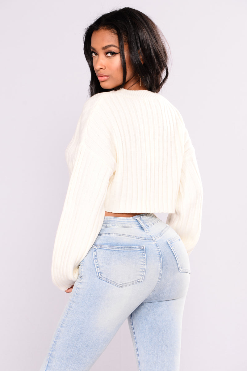 Bessie Ribbed Sweater - Ivory