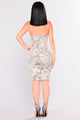 Gimme Some Velvet Sequin Dress - Silver