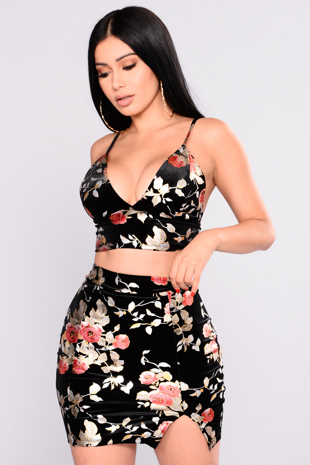 Air Blossom Floral Set - Black