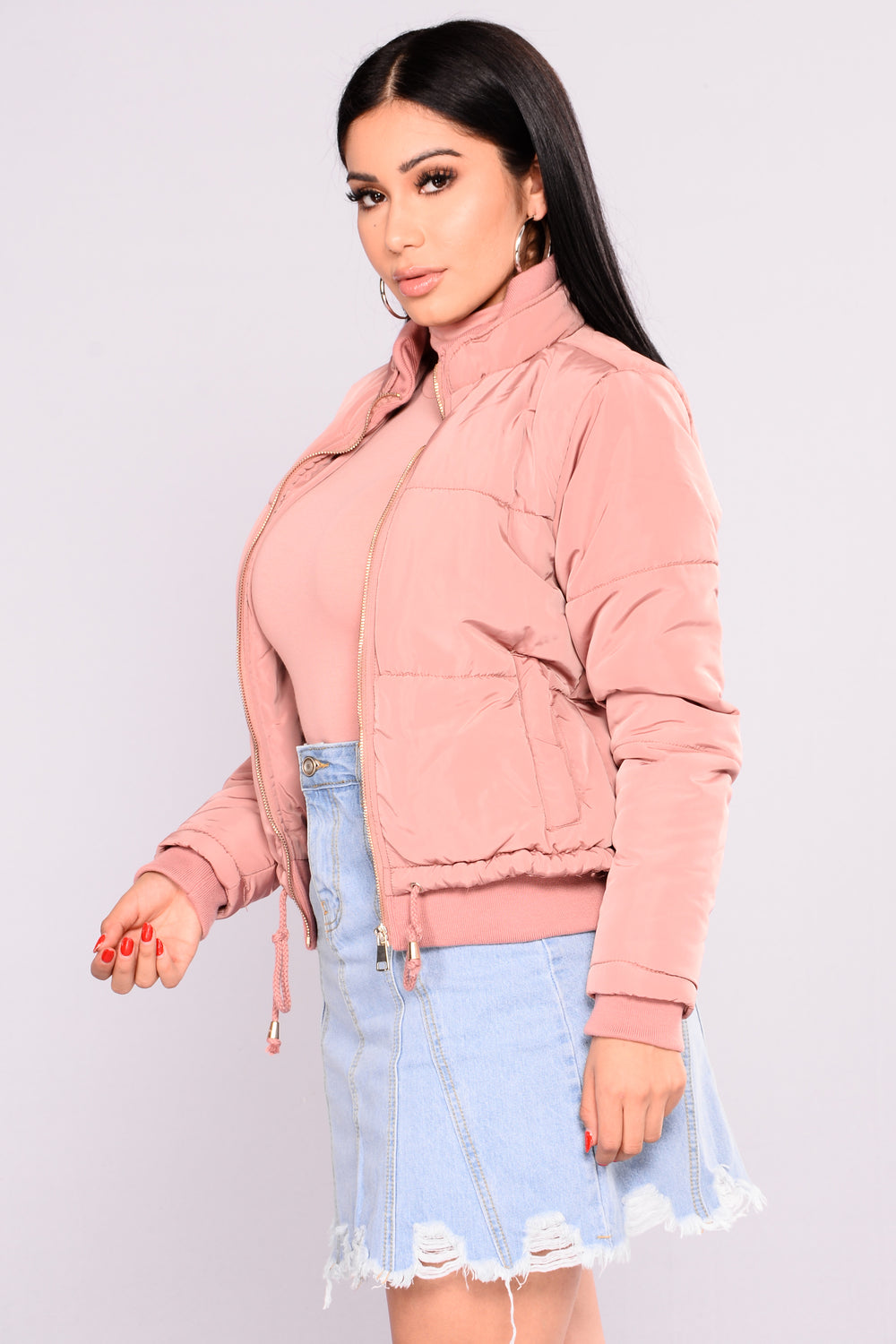 Moonwalk Puffer Jacket - Mauve