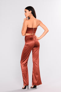 Independent Woman Satin Set - Bronze