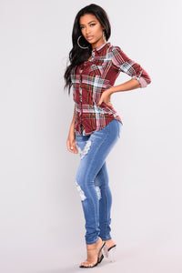 Soft Spot Skinny Jeans - Medium Blue Angle 5
